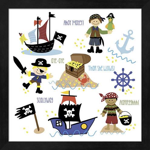 Pirates & Ships Framed Wall Art