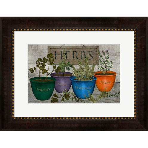 Potted Herbs Framed Wall Art