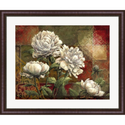 Metaverse Art Praise II-Peonies Framed Wall Art