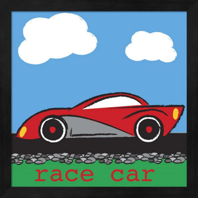 Metaverse Art Race Car Framed Wall Art