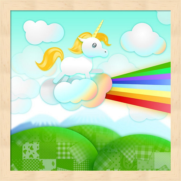 Rainbow Guide Unicorn Framed Wall Art