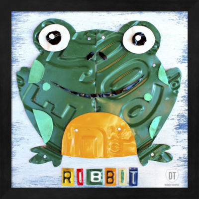 Metaverse Art Ribbit The Frog Framed Wall Art