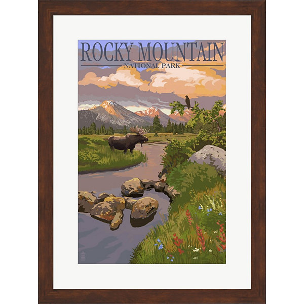Metaverse Art Rocky Mountain Park Moose Framed Wall Art