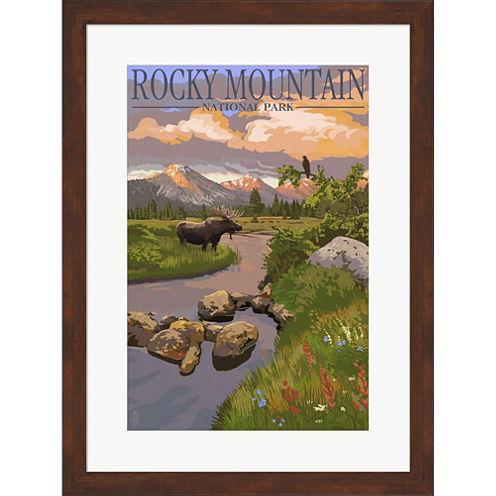 Rocky Mountain Park Moose Framed Wall Art