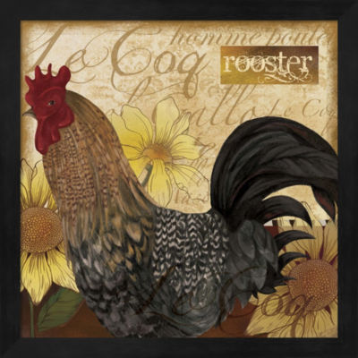 Metaverse Art Rooster Framed Wall Art