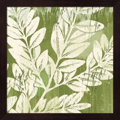 Sage Foliage Framed Wall Art