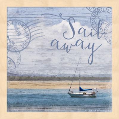 Metaverse Art Sail Away Framed Wall Art