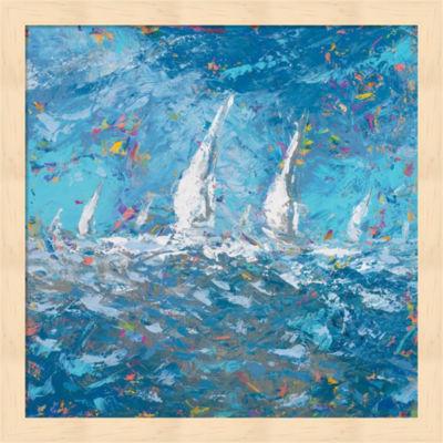 Metaverse Art Sailing I Framed Wall Art