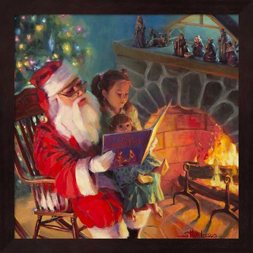 Santa Christmas Story Framed Wall Art