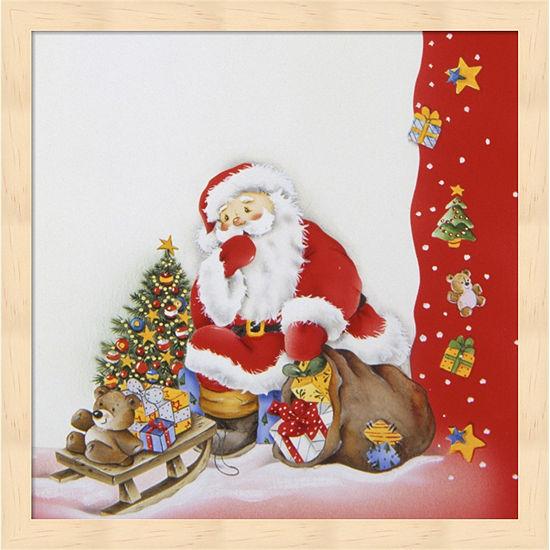 Metaverse Art Santa'S Christmas Pause Framed WallArt