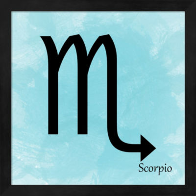 Metaverse Art Scorpio - Aqua Framed Wall Art