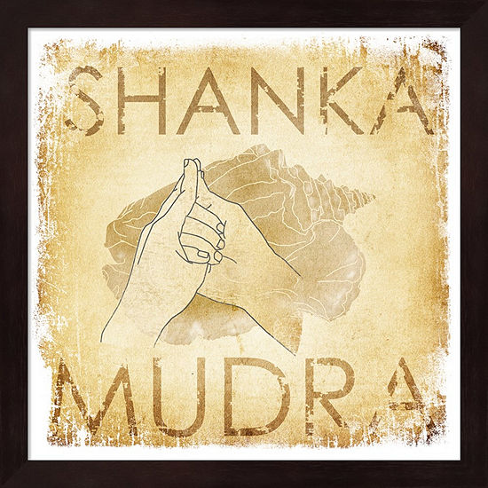 Metaverse Art Shanka Mudra (Conch) Framed Wall Art