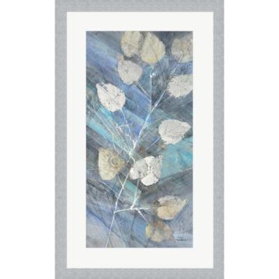 Metaverse Art Silver Leaves II Framed Wall Art