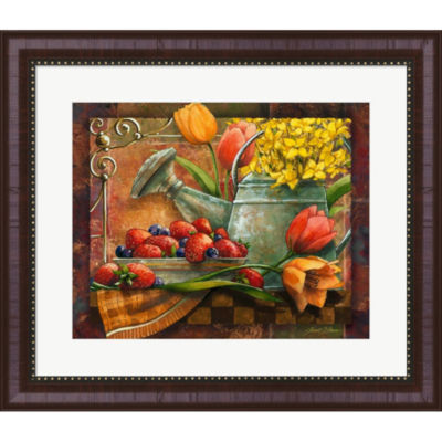 Metaverse Art Spring Still Life Framed Wall Art