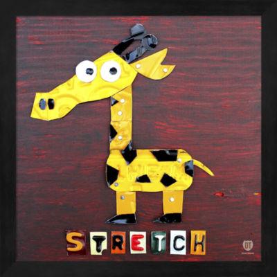 Metaverse Art Stretch The Giraffe Framed Wall Art