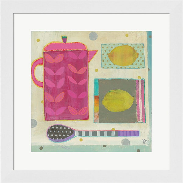 Metaverse Art Tea With Lemons Framed Wall Art