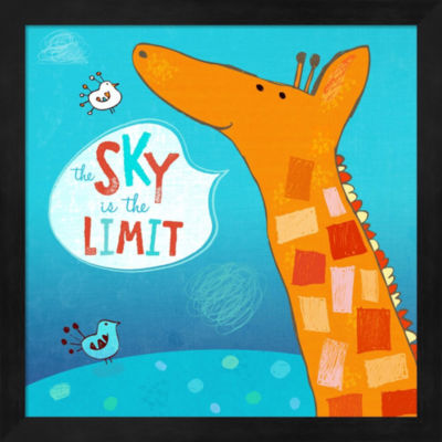 Metaverse Art The Sky Is The Limit Framed Wall Art