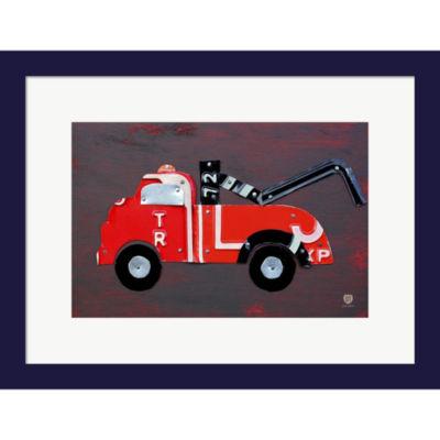 Tow Truck Framed Wall Art