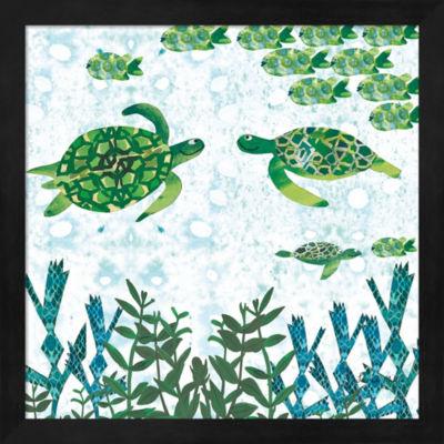 Metaverse Art Turtles Framed Wall Art