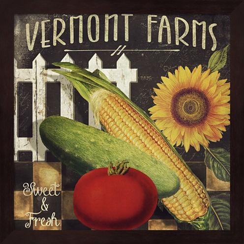 Vermont Farms VII Framed Wall Art