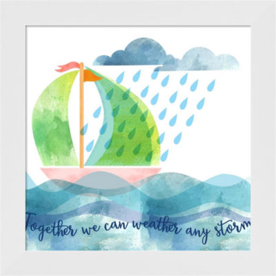 Metaverse Art Weather Any Storm Framed Wall Art