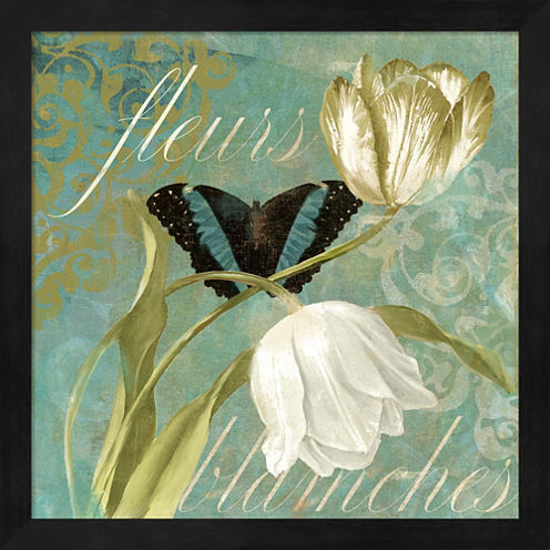 White Tulips II Framed Wall Art