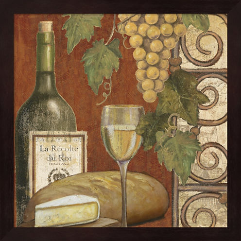 Wine And Cheese Tasting 1 Framed Wall Art