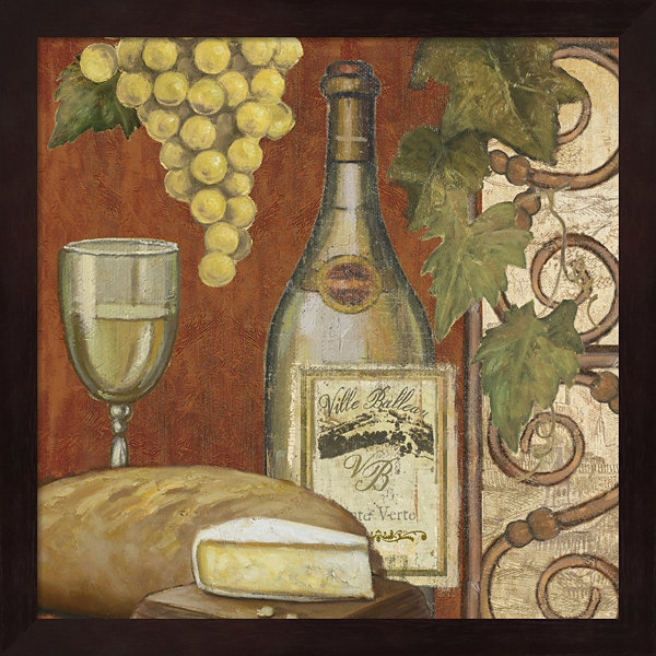 Metaverse Art Wine And Cheese Tasting 2 Framed Wall Art