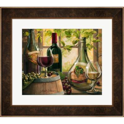 Metaverse Art Wine By The Window II Framed Wall Art