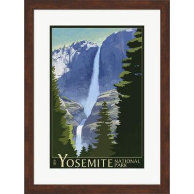 Metaverse Art Yosemite Mountains And Trees FramedWall Art