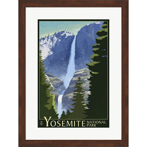 Yosemite Mountains And Trees Framed Wall Art