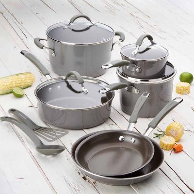 Rachael Ray 12-pc. Aluminum Non-Stick Cookware Set