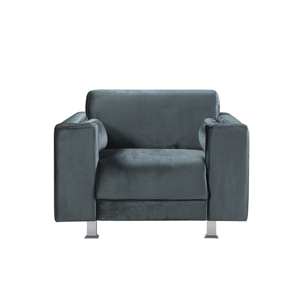 Amarillo Velvet Club Chair