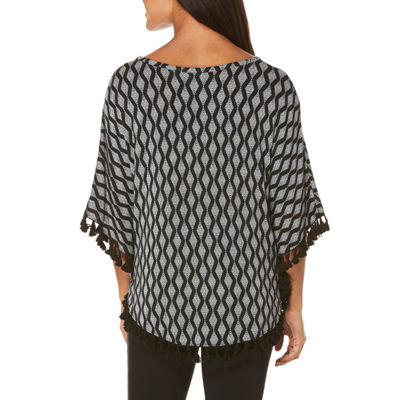 Rafaella Short Sleeve Crew Neck Jersey Blouse