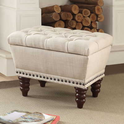 Hampton Fabric Tufted Bench