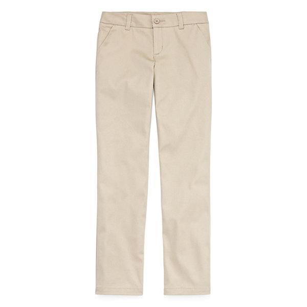 Arizona Flat Front Pants-Big Kid Girls