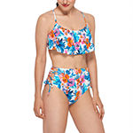 Arizona Floral Flounce Swimsuit Top or Swimsuit Bottom-Juniors
