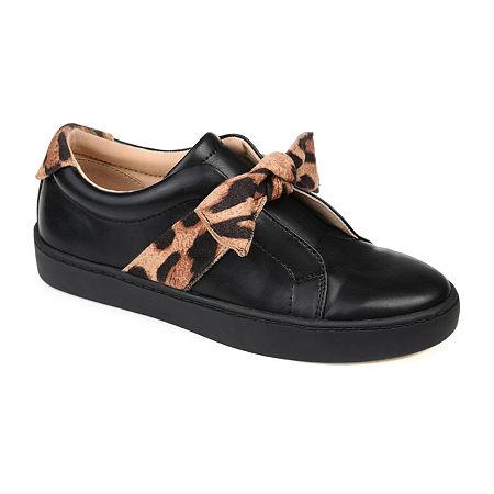 Journee Collection Womens Ash Slip-On Shoe, 9 1/2 Medium, Black