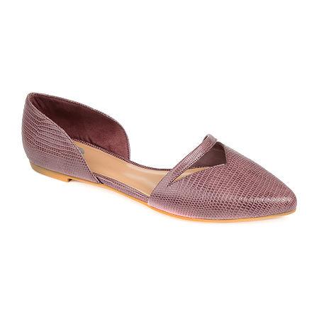 Journee Collection Womens Braely Ballet Flats, 6 Medium, Purple