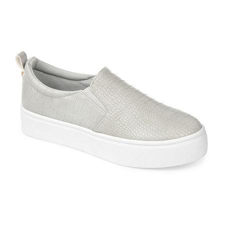 Journee Collection Womens Patrice Slip-On Shoe, 7 Medium, Gray