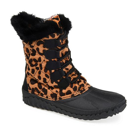 Journee Collection Womens Powder Block Heel Winter Boots