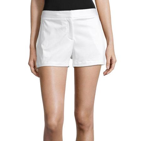 Worthington Womens High Rise Midi Short, 18 , White