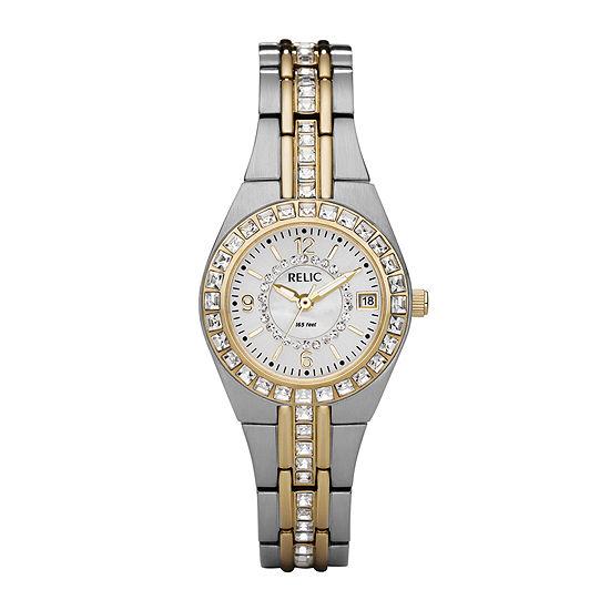 de3b9b6ae3940 Relic Womens Two Tone Watch ZR11775 JCPenney