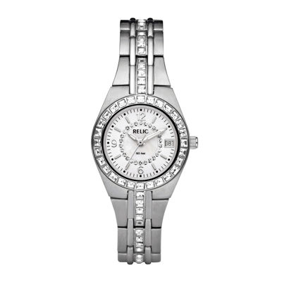 Relic Womens Silver Tone Strap Watch-Zr11788