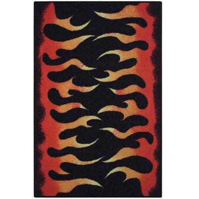 Flames Rectangular Rug