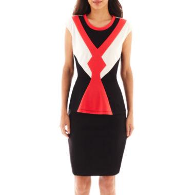 jcpenney.com | Worthington® Colorblock Peplum Top or Modern Seamed Pencil Skirt