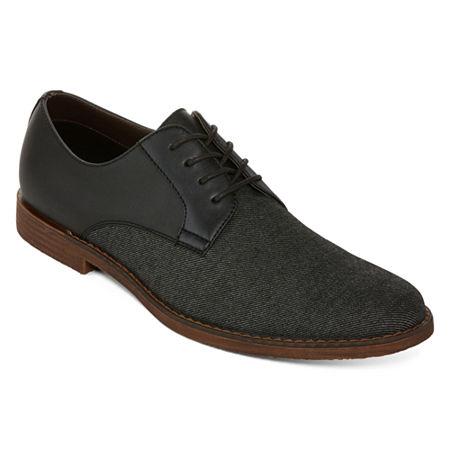 Men's 1950s Shoes Styles- Classics to Saddles to Rockabilly JF J.Ferrar Mens Marcus Oxford Shoes 8 12 Medium Black $37.49 AT vintagedancer.com