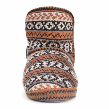 Muk Luks Short Knit Acrylic Bootie Slippers