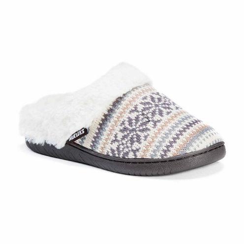 Muk Luks Suzanne Acrylic Clog Slippers