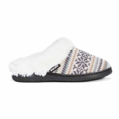 Muk Luks Suzanne Acrylic Clog Slippers